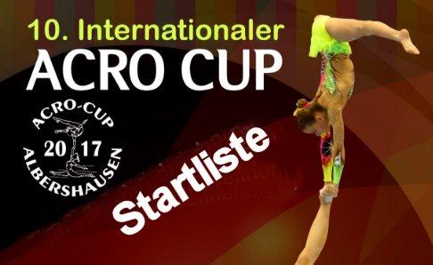 Startliste Acro Cup Albershausen
