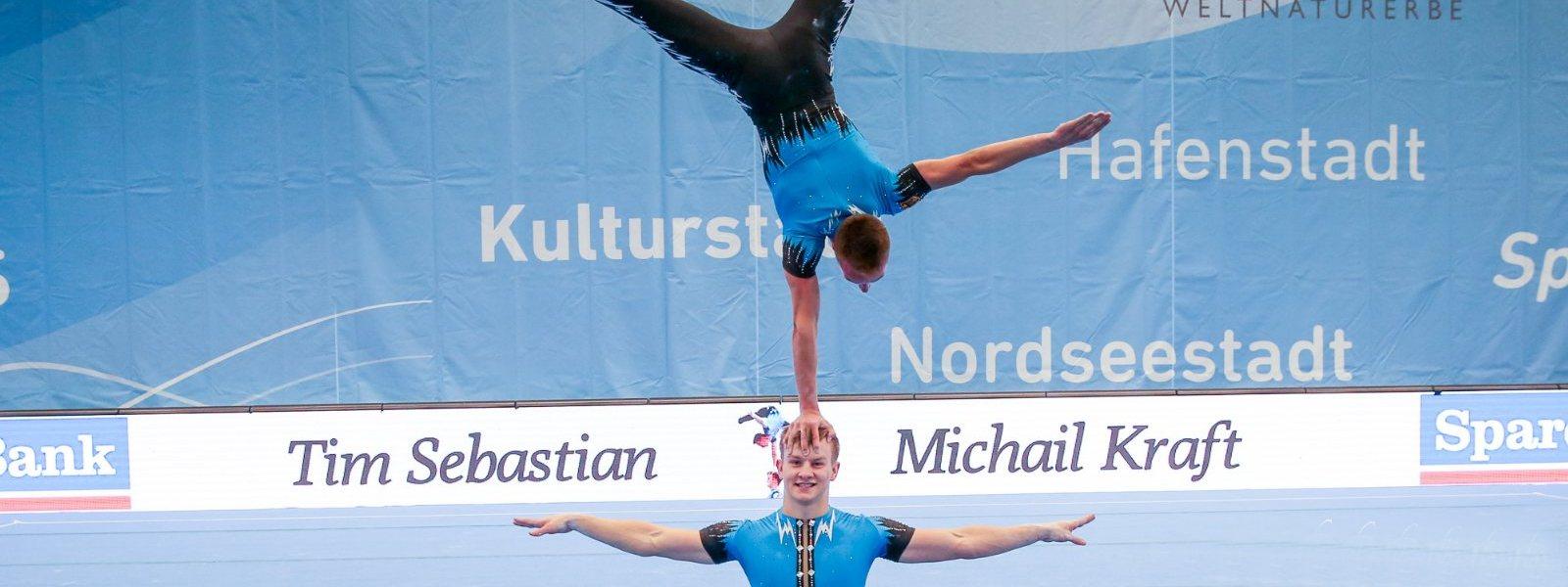 Tim Sebastian & Michail Kraft: Deutschlands erfolgreichste Sportakrobaten beenden ihre Karriere