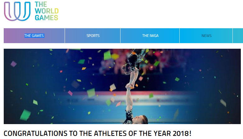"Sportakrobaten sind ""Athlete of the Year 2018"" der World Games"