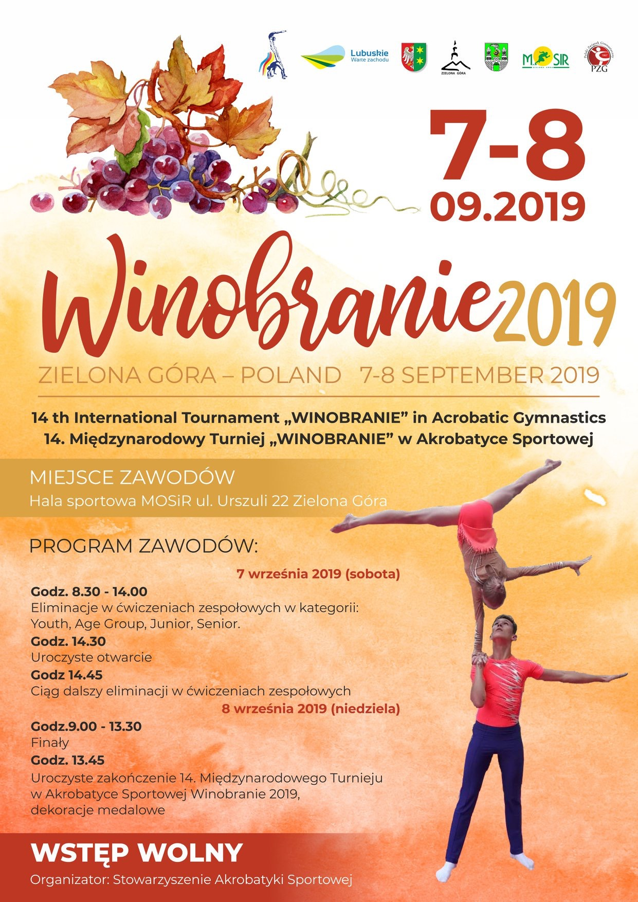 "14th International Tournament ""Winobranie 2019″/ Polen"