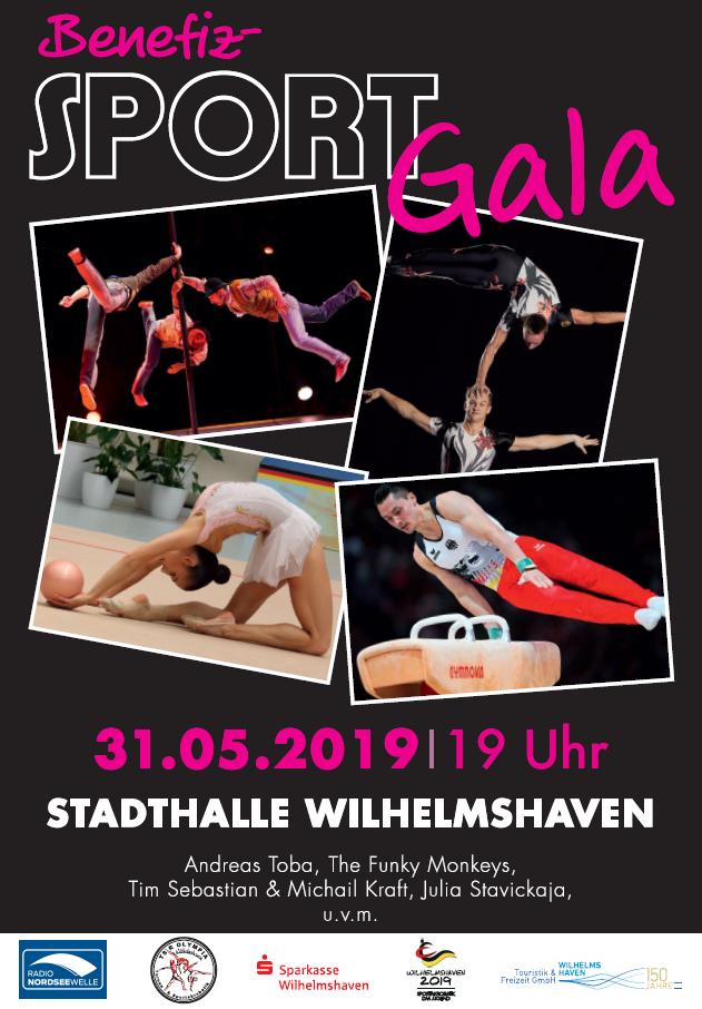Große Benefiz-Sportgala am 31.05.2019, 19.00 Uhr, in der Stadthalle Wilhelmshaven