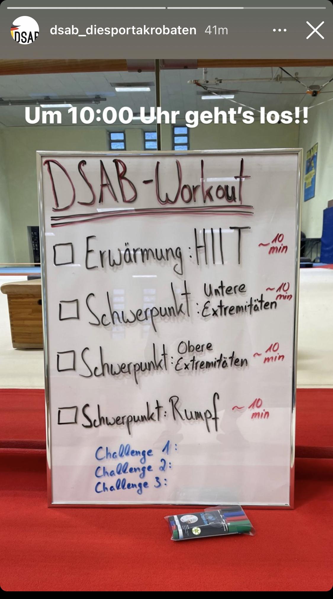 Live-Training mit DSAB-Trainer Johannes Belovencev
